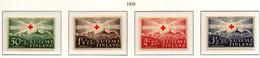 PIA - FINLANDIA  - 1939 : Pro Croce Rossa - 75° Anniversario Della Croce Rossa Internazionale   - (Yv 209-12) - Primo Soccorso
