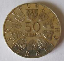 Autriche - Monnaie 50 Schilling Julius Raab 1971 - Argent - Autriche