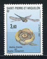SPM MIQUELON 1992  N° 560 ** Neuf  MNH Superbe C 1.70 € Faune Flore Fleur Insectes Aeshna Eremita Sur Nuphar Flowers - Neufs