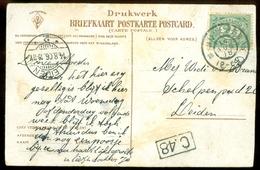 HANDGESCHREVEN BRIEFKAART Uit 1906 Van NIJMEGEN Naar LEIDEN * NVPH 55 (11.551b) - Periode 1891-1948 (Wilhelmina)