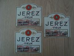 LOT DE 3 ETIQUETTES JEREZ VIEUX - Verzamelingen, Voorwerpen En Reeksen