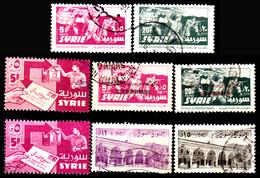 Siria-00083 - Valori Del 1957 (o) Used - Senza Difetti Occulti. - Siria