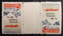 Marruecos: Año. 1944 - Av. ( Entrada Francesa, Sobrecarga. ) Tete - Beche.  2-val. - Maroc (1956-...)