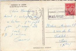 """CP FM """" Ferdinand De Lesseps"""" 1955 Embarquement Pour L'Algérie - Postmark Collection (Covers)"""