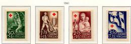 PIA - FINLANDIA  - 1941 : Pro Croce Rossa - Propaganda Per La Ricostruzione    - (Yv 225-28) - Primo Soccorso