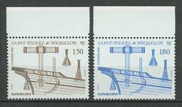 SPM MIQUELON 1992 N° 561/562 ** Neufs MNH Superbes C 1.80 € Outils De Calfat Bateaux Navires Boats Ships Tools - Neufs