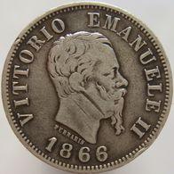 Italy 50 Centesimi 1866 M F - Silver - 1861-1946 : Regno