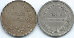 Ecuador - 5 Centavos - 1908 H (KM60.1) & 1918 (KM60.2) - Scarce - Ecuador