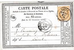 N° 55 S / C.P. T.P Ob T 17 Lanta 10 Mai 76 - Poststempel (Briefe)