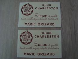 LOT DE 2 BUVARDS RHUM CHARLESTON MARIE BRIZARD - Liquor & Beer