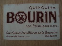 BUVARD BOURIN QUIQUINA VIN BLANC DE LA TOURAINE - Liquor & Beer