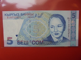 KIRGHIZISTAN 5 SOM 1997 PEU CIRCULER/NEUF - Kyrgyzstan