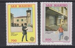 Europa Cept 1990 San Marino 2v ** Mnh (42686) - Europa-CEPT