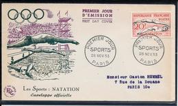 FDC 1953 - 960 à 965 Sport En L'honneur Des Médaillés Français Aux J.O. D'Helsinski - FDC