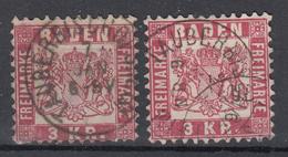 BADEN 2 X (MICHEL N° 24) - Baden