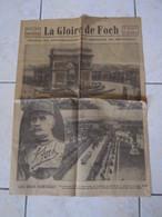 Le Petit Journal 1929 LA GLOIRE DE FOCH Numéro Spécial Obsèques Du Maréchal - Giornali