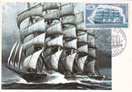 Carte 1er Jour:  Voilier 5 Mats Le Prussien - La Rochelle - FDC