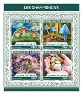 DJIBOUTI 2018 - Mushrooms, Butterflies - YT 1916-9; CV=20 € - Schmetterlinge