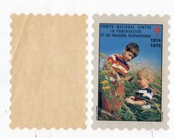 Timbre Vignette 1974 1975 Comité Contre La Tuberculose - Erinnofilia