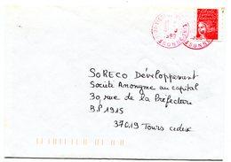 ESSONNE De VIGNEUX SUR SEINE Dateur A 9 Rouge Sur Env. De 1999 - Poststempel (Briefe)