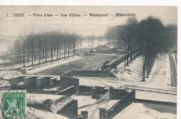 CPA - Belgique - Diest - Porte D'eau - Vue D'hiver - Diest