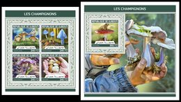 DJIBOUTI 2018 - Mushrooms - YT 1916-9 + BF287; CV=40 € - Champignons