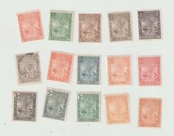 MADAGASCAR 1903  ZEBU  N° 63 à 77 *  CHARNIERES, N° 72 OBL , GOMME LEGEREMENT ALTERE  COTE 600 E - Unused Stamps