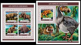 DJIBOUTI 2018 - Extinct Species - YT 1932-5 + BF291; CV=40 € - Prehistorisch