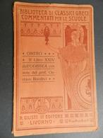 2.3) BIBLIOTECA CLASSICI GRECI PER LE SCUOLE OMERO LIBRO XXIV ODISSEA BELLA COPERTINA NOTE BORALEVI - Corsi Di Lingue