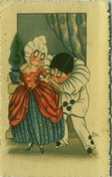 MARY SIGNED 1930s/40s POSTCARD - YOUNG PIERROT WITH COLOMBINE - EDIZ A. TRALDI - S. 514  (BG283) - Illustrateurs & Photographes
