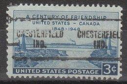 Locals USA Precancel Vorausentwertung Preo, Locals Indiana, Chesterfield 704, Stamp Defect, Tear - Vereinigte Staaten