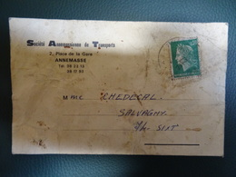 FRANCE  Lettre 1972 SIXT  Haute-Savoie Societé Annemassienne De Transports -reçu De Colis - Francia