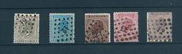 [2071] Zegels 17 - 21 Gestempeld - 1865-1866 Profile Left