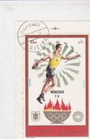 FUJEIRA, Jeux Olympiques Munich 72, Lancer Du Disque, 10 Riyals - Fujeira