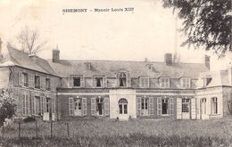 C P A 80] Somme > Oisemont Manoir Louis XIII CARTE CIRCULEE 2 TIMBRES 1923 - Oisemont