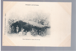 TANZANIA Zanzibar Ethnic Une Réception Chez Foumbaca Ca 1905 OLD POSTCARD - Tanzania