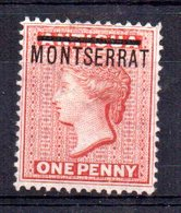 Sello Nº 1 Montserrat - Montserrat