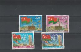COMORES 154 + 155 * Indépendance + 156 Et 157 * ONU - Avec Charnière  - 2 Scan -  Drapeaux - Isole Comore (1975-...)