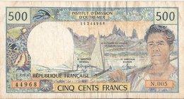 France - Billet De 500 Francs NOUVELLE CALEDONIE - NOUMEA - Institut D'Emission D'Outre-mer - Territoires Français Du Pacifique (1992-...)