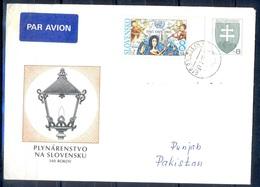 K641- Postal Used Cover. Posted From Slovakia Slovensko To Pakistan. Music. - Slovakia