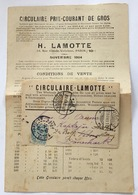 France 5c Type Blanc Imprimé MARCHAND DE TIMBRES LAMOTTE 1904 (lettre Cover Brief Stamp Dealer, Briefmarkenhändler - Marcophilie (Lettres)