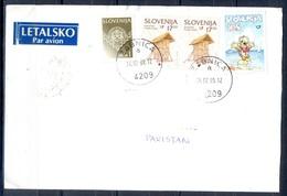 K647- Postal Used Cover. Posted From Slovenija Slovenia To Pakistan.Ship. Cartoon. - Slovenia