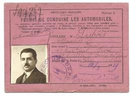 Permis De Conduire 1929 - Old Paper