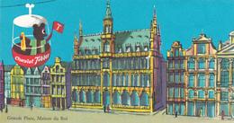Carte Publicitaire Chocolat Tobler - Grande Place De Bruxelles - Maison Du Roi - Beau Cachet Mercator - 1962 - Publicité