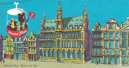 Carte Publicitaire Chocolat Tobler - Grande Place De Bruxelles - Maison Du Roi - Beau Cachet Mercator Anvers - 1962 - Publicité