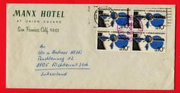 USA,  1975,   To   Richterswil, Switzerland - Cartas