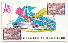 Souvenir Philatélique  -Expo Universelle De Bruxelles 58 - Editions Rodan - Pavillon Telexpo - 1958 – Brussels (Belgium)