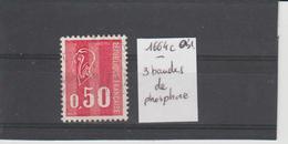 Marianne De Béquet - 1971 - 1664c Oblitéré - 3 Bandes De Phosphore - 1971-76 Marianne Of Béquet