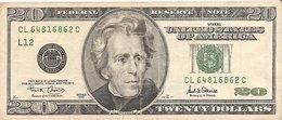 Etats-Unis (United States Of America) - Billet De 20 Dollars - Serie 2001 - N° LC12 - Etats-Unis