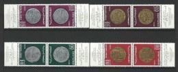 """Maroc YT 578A à 581A Paire Tête-bêche """" Anciennes Monnaies """" 1968 Neuf** - Morocco (1956-...)"""